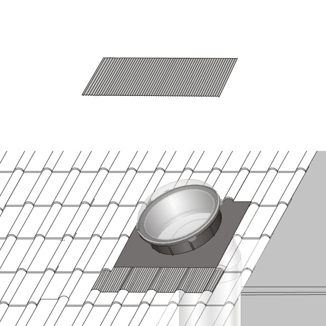 SR adapter do pokryc falistych - ŚWIETLIK TUNELOWY SR 250
